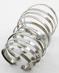 Silver Over Sized Cuff Bracelet