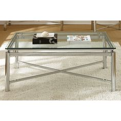 Greyson Living Natal Chrome and Glass Coffee Table (Natal Coffee Table), Silver