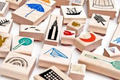 DIY Handmade Carved Rubber Stamps