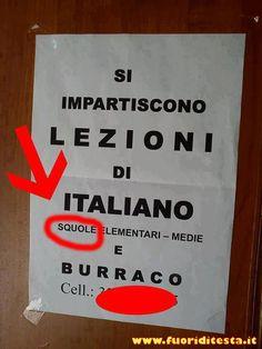 Lezioni di italiano? Anche no. Magari chiamo per quelle di burraco... XD