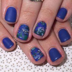 @ohriginails #Gina #handpainted #Monet inspired #gelnail #nailart #VanityProjects