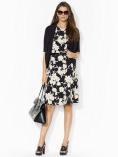 Floral-Print Jersey Dress - Mid Length Dresses Dresses - Ralph Lauren UK