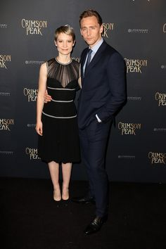 Mia Wasikowsk - wearing Alexander McQueen - with Tom Hiddleston - Best dressed celebrities this week: 28 September | Harper's Bazaar