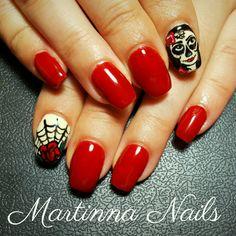 #nails #nailsart #nailsdesign #halloween #red