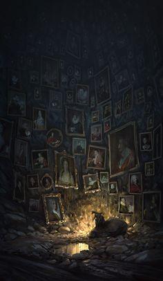 ArtStation - Collecting nobles portraits, Quentin Regnes