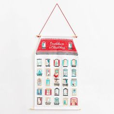 Count down the days until Christmas with this gorgeous oversized holiday house advent calendar. Put whatever you please in each pocket to really make it your own. Advent Calendar House, Fabric Advent Calendar, Advent Calendars For Kids, Kids Calendar, Calendar Ideas, Christmas Gifts For Kids, Christmas Projects, Christmas Holidays, Christmas Decorations