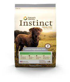 Instinct Grain-Free Lamb Meal Formula Limited Ingredient Diet Dry Dog Food by Nature's Variety, 25.3-Pound Bag Instinct Grain-Free http://www.amazon.com/dp/B004ZIGT44/ref=cm_sw_r_pi_dp_brpQtb0XH2M3TCYG