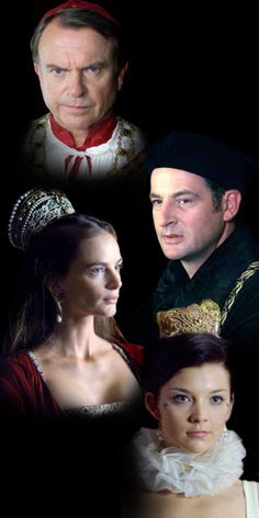 Cardinal Wolsey, Sir Thomas More, Princess Margaret and Anne Boleyn