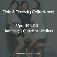 Complete your look with a perfect handbag. Get amazing handbags & clutches and best price at http://www.togofogolooks.com