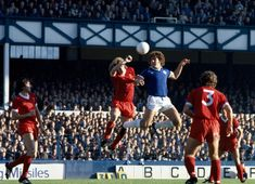 Everton 1 Liverpool 0 in Oct 1978 at Goodison Park. Phil Thompson clears the ball away from Bob Latchford in the Division clash. Liverpool Players, Liverpool Fc, Peter Beardsley, Nicolas Anelka, Football Music, Liverpool Images, Andy Carroll, Merseyside Derby