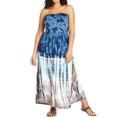 a1e7e6f9a0 Raviya Plus Size Convertible Tie-Dye Cover Up Plus Sizes - Swimwear - Macy's