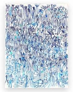 "Saatchi Art Artist Sarah Giannobile; Painting, ""blue field"" #art"