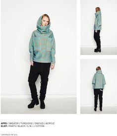 nenukko.com #turquoise #sea #blue #patterned #sweater