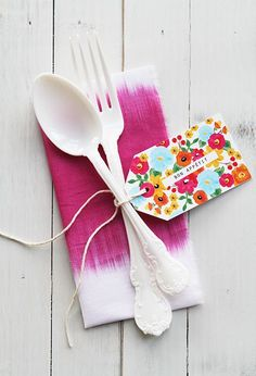 DIY Bon appetit cutlery tags. Eat Drink Chic