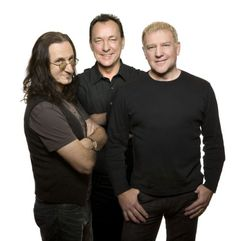 Rush band | Photo: Andrew MacNaughtan. Geddy Lee, Neil Peart, and Alex Lifeson!