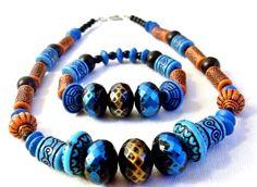 African Design Handmade Choker and Bracelet Set by cupidscloset, $34.99