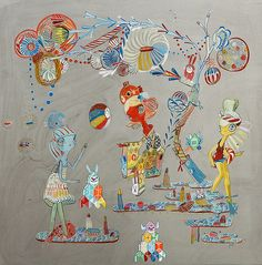 Partners in art and in life, Ferris Plock and Kelly Tunstall collaborate seamlessly, almost out of necessity.   Hi-Fructose Magazine | The New Contemporary Art Magazine | Page 20