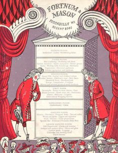 """The Delectable History of Fortnum & Mason"" (back cover), illustrated by Edward Bawden, c.1950s"