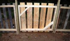 pallet fence and gate
