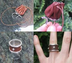 Rings with leather