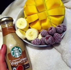 #starbucks #fruit #mango #raspberries #fitness #motivation