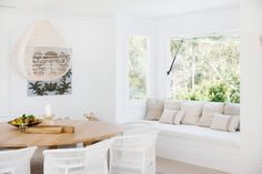 Light, bright and white on white is the theme for Three Birds Renovations House The scale and what seems like simplicity at first glance gives this home its WOW factor, but once you study the details, not one has been missed. Living Area, Living Room Decor, Living Spaces, Living Rooms, Renovation Plan, Three Birds Renovations, Casual Dining Rooms, The Design Files, House Design