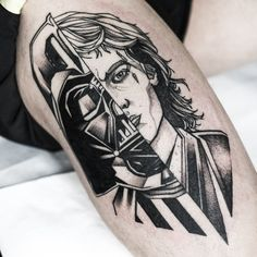 Darth Vader / Anakin tattoo by Łukasz Chojecki Star Wars Tattoo, Star Tattoos, Body Art Tattoos, Tatoos, Anakin Darth Vader, Darth Vader Tattoo, Star Wars Wallpaper, Peircings, Star Wars Art