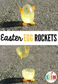 I love these Easter egg rockets! What an awesome science experiment for kids. Perfect science activity for spring or Easter. I love these Easter egg rockets! What an awesome science experiment for kids. Perfect science activity for spring or Easter. Kid Science, Preschool Science, Science Activities, Summer Science, Preschool Kindergarten, Physical Science, Earth Science, Science Chemistry, Science Ideas