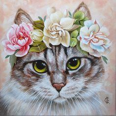 Просмотреть иллюстрацию портрет кошки 3 из сообщества русскоязычных художников автора Женя Филиппова в стилях: Декоративный, Реализм, нарисованная техниками: Живопись.