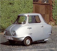 Scootacar Mk II (1962)  Be funny to put some sport bike exhuast (or an engine) in this.