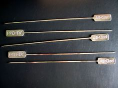 ALL-CLAD Stainless Shish Kebab Barbecue Skewers Set of 5 New #AllClad