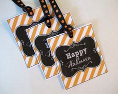 Free Printable Halloween Tags & Labels {Printable of the Month}