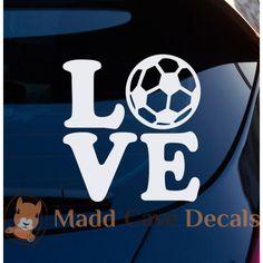 Love Soccer Decal