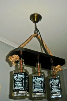 Jack Daniels Bar Light/Table/Hallway by kosmashandcraft on Etsy
