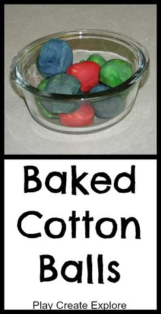 Baked Cotton Balls - heck, yeah, we're doing this!