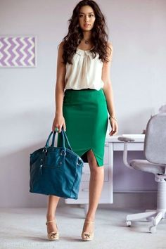 45 Catchy Spring Work Outfits Ideas For 2016 - Latest Fashion Trends #SummerFashionTrends
