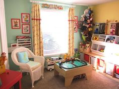 Colorful Vintage-Inspired Play Zone for 3 My Room | Apartment Therapy