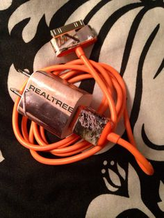 Camo Realtree charger with orange cord