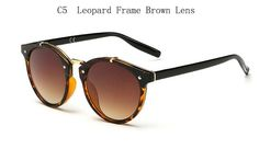 2015 Vintage Round Sunglasses Women Brand Designer Eyewear UV400 Gradient Female Retro Sun Glasses Oculos De Sol Feminino Gafas