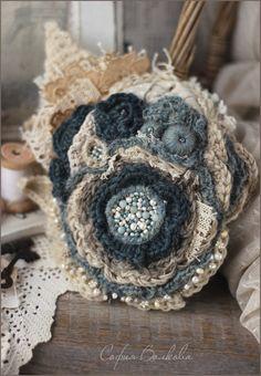 """Купить Вуалетка """"Ледяной цветок"""" - вуалетка, шляпка, ретро, винтаж, морская волна, бирюзовый, голубой"""