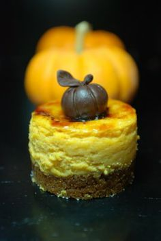 mini pumpkin cheesecake brûlée.  the brûlée was an afterthought but it totally rocked the cheesecake!