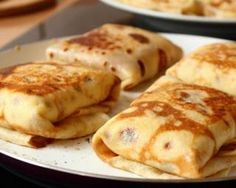 Our Favorite Cheese Blintzes Recipes Plus Variations - Joy of Kosher No Dairy Recipes, Cooking Recipes, Healthy Recipes, Cheese Blintzes, A Food, Good Food, Savory Pancakes, Jewish Recipes, Holiday Recipes