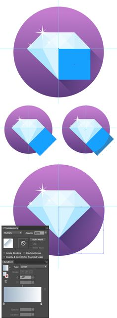 What You\'ll Be CreatingIn this tutorial we will learn how to create a set of simple yet trendy flat-style gems icons in Adobe Illustrator! Using basic shapes and Blending Modes, we will make our...
