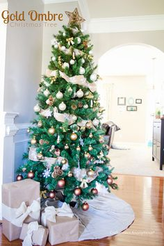 gold ombre christmas tree #justaddmichaels