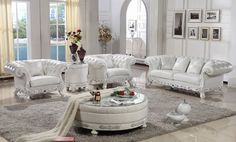 #LS029 genuine leather sofa set,neoclassic crystal studded chesterfield living room sofa set - from Alibaba.com