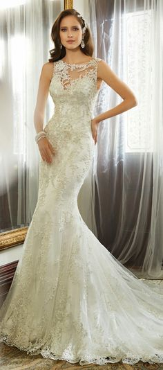 I'd like to show off my necklace though... Sophia Tolli 2015 Bridal Collection - Belle The Magazine