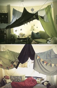 Indoor tents. Love everything in this house.