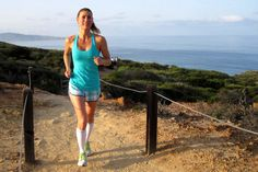 Holly running the trails of Torrey Pines