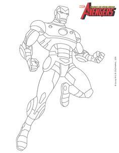 Coloriage : Iron Man dans les Avengers