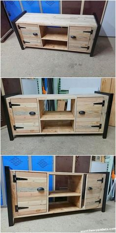 20 Brilliant DIY Pallet Furniture Design Ideas to Inspire You - diy pallet creations Diy Pallet Furniture, Furniture Projects, Wood Furniture, Furniture Outlet, Discount Furniture, Pallet Crafts, Diy Pallet Projects, Tv Stand Plans, Pool Diy